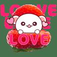 Fluffy Bear pink strawberry!
