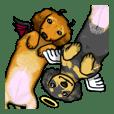 可愛的兩條臘腸狗