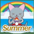 梅雨&夏に使える〜ニャンコとスクーター