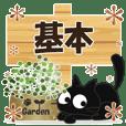 Sticker. black cat29