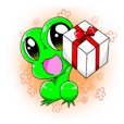 Can be used everyday! Frog sticker