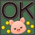 特大字超實用生活日常用語 可愛豬-黑色大字