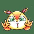 orange squirrel Sticker