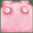 Tired pink bear