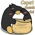 Pinguin ndut : Pop-up stickers