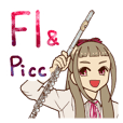 Flute and Piccolo Girl