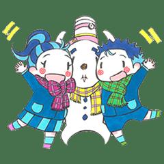 北海道の雪だるま(ハングルのみ)
