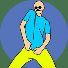 Mr. Bald: Move it!
