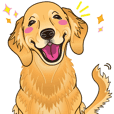 A sticker willingly. Golden Retriever EV