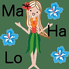 Tropical Hula Girl