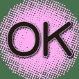 Pink abstract-black big font-greetings
