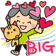 Grandma's considerate Big sticker_Japan