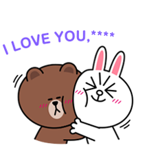Brown & Cony Custom Stickers