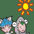 Small fish Q & Lan Meow Abi