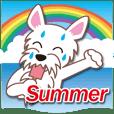 梅雨&夏に使える〜白のウエスティとくるま
