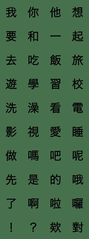 「中国語漢字スタンプ」のLINEスタンプ一覧