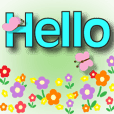 ^.^greetings with Spring in Big font 7