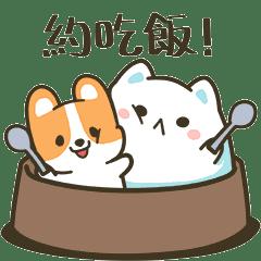 貓如山和狗不動的吃喝玩樂篇
