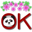 Cute panda-big font-practical greetings