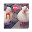lovely ducks sticker 2