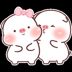 可愛豬的情侶日常