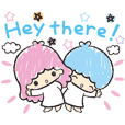 Little Twin Stars: Stiker Gambar Tangan