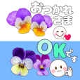 pansy small size stickers
