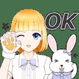 金元寶兔兔-可愛吃貨生活動態貼圖(日常篇)