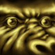 Golden gorilla of the darkness