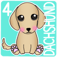 The Dachshund stickers 4