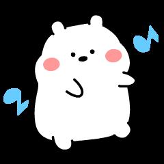 สติ๊กเกอร์ไลน์ Plo: Chubby White Bear