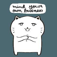 Minimal Black & White Cat