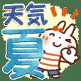 夏・天気✨【白うさぎ&時々インコ】