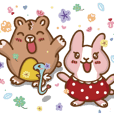 Strawberry Rabbit and Egg Bear