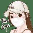 Mira cute girl (big sticker Eng)