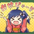 fukushima character nakado-riku Sticker