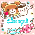 Large Character sticker of chanpi