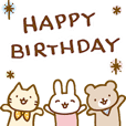 お誕生日を全力で祝う動物たち(動)