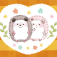 Two hedgehogs Sticker