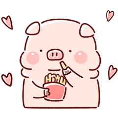 Lazynfatty: Foodie Little Piggy