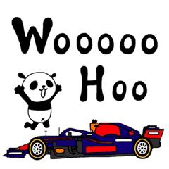 えりパンダのレーシングカーセット