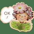 Chatty flowers sticker
