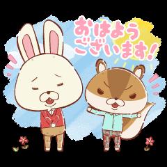 KAMI USAGI ROPÉ Cute & Fluffy Stickers