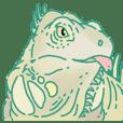 Iguana sticker.