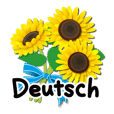 Thanks with flowers in German(Deutsch)