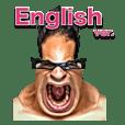 Funny face Sticker English ver.