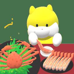 【動く】りんりんがひたすら食べるスタンプ