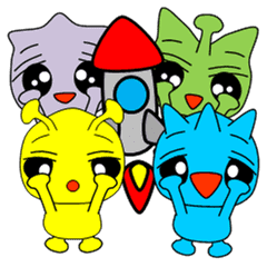PIYOTARO FRIENDS エイリアン スタンプ