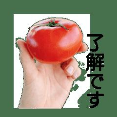 スベってるトマトのスタンプ
