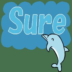 イルカのデカ文字スタンプ 英語版